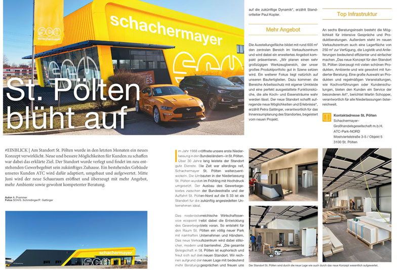 Bau Magazin Firma Schachermayer